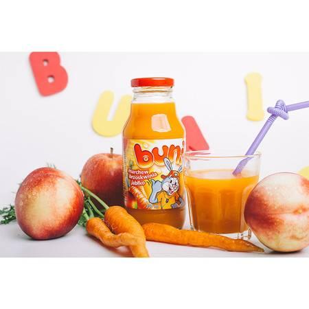 贝尼奥 波兰进口 混合果蔬汁饮料 胡萝卜桃苹果330 ml 五瓶装