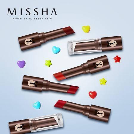 Missha/谜尚 魅力娇艳丝柔哑光唇膏恋朋限量版 酒红色、复古红、鲜红色、亮橘色任选