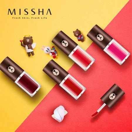 Missha/谜尚LINE FRIENDS水漾焕润染唇液4.5G 唇釉唇彩染唇液 四色可选