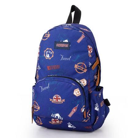 美旅 时尚印花双肩旅行背包 50Q*31002蓝色印花 、50Q*75002白色印花 两色任选