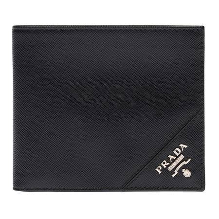 PRADA 普拉达男士黑色Saffiano皮革短款钱夹 2M0513_QME_FOOO2