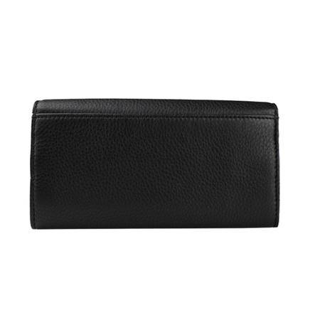 MICHAEL KORS MK迈克·科尔斯 女士黑色牛皮长款钱包钱夹 32F2GFTE3L 黑色