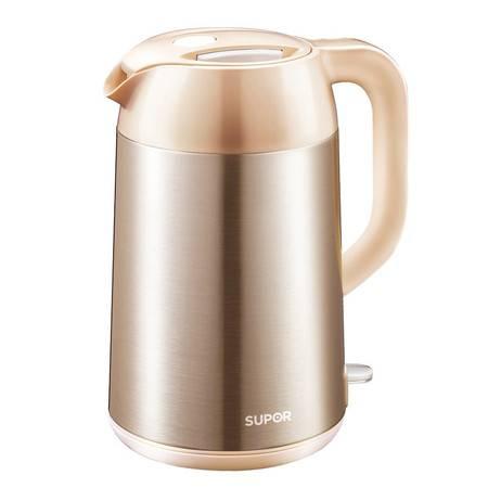 SUPOR/苏泊尔 SWF17E01A电热水壶不锈钢保温防烫电水壶烧水壶