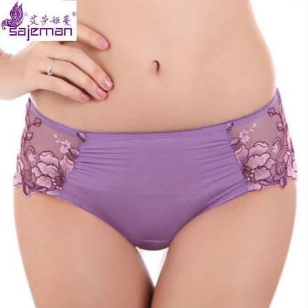 艾莎姬蔓 新品女士中腰内裤舒适平角裤D1468