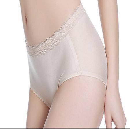 玫瑰艾柏妮一片式内裤女无痕丝滑纯色大码性感三角裤夏季D1612