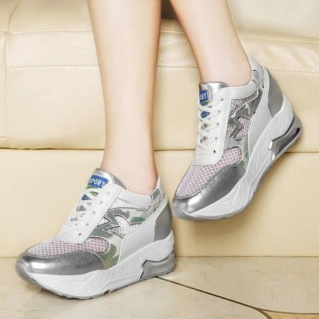 莱卡金顿6044网纱透气休闲鞋女韩版学生跑步乐福鞋女运动鞋春单鞋