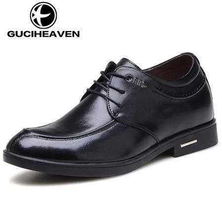 古奇天伦817男鞋春季男式增高鞋男士内增高皮鞋6CM真皮商务正装鞋子