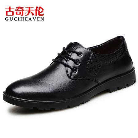 古奇天伦男鞋6808春季新款商务正装男士皮鞋男英伦真皮新郎婚鞋子