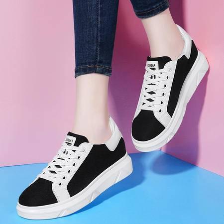 古奇天伦平底单鞋厚底低帮鞋女鞋8445夏季新款英伦休闲鞋圆头鞋子
