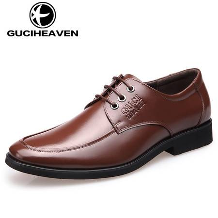古奇天伦5355夏季男鞋青年男士商务正装皮鞋男真皮英伦圆头牛皮潮鞋子