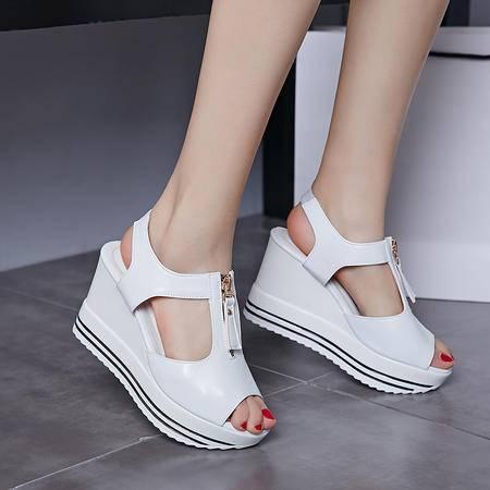 玛丽兰夏季单鞋磨砂牛皮舒适柔软透气时尚舒适凉鞋