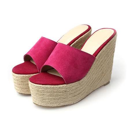 玛丽兰夏季单鞋牛翻皮柔软透气时尚舒适欧美单鞋