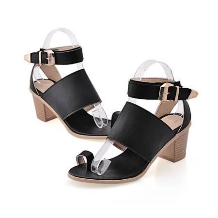玛丽兰夏季单鞋pu时尚舒适凉鞋