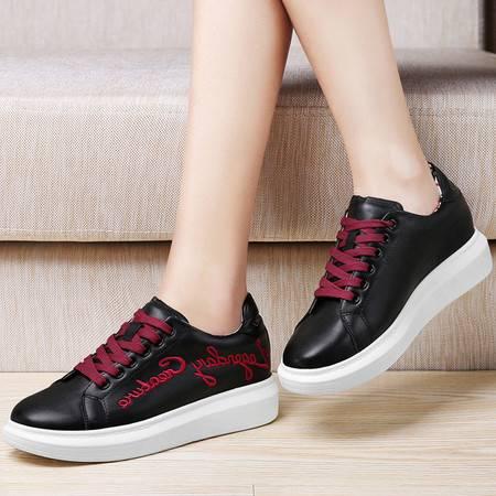 古奇天伦平底休闲鞋英伦鞋子8453秋季新款低帮鞋单鞋运动女鞋时尚