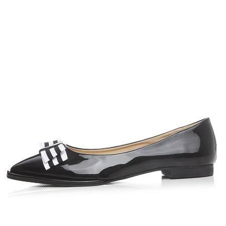玛丽兰夏季平底女鞋优质漆皮套脚休闲简约单鞋