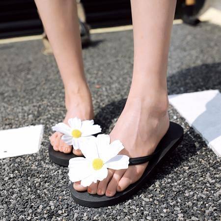 玛丽兰夏季拖鞋平跟露趾百搭人字拖休闲凉拖