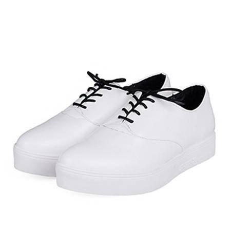 玛丽兰夏季休闲鞋平底系带圆头单鞋
