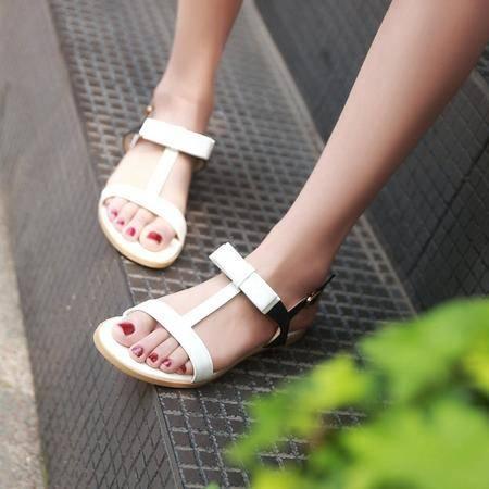 玛丽兰夏季凉鞋平底休闲露趾时尚罗马女鞋