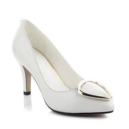 玛丽兰夏季单鞋浅口尖头英伦细跟套脚女鞋