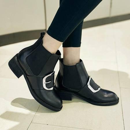 玛丽兰秋冬季短靴时尚 欧美休闲女靴