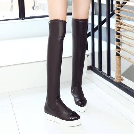 玛丽兰秋冬女靴时尚简约百搭瘦腿过膝靴