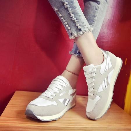 玛丽兰夏季休闲鞋时尚百搭圆头系带运动鞋