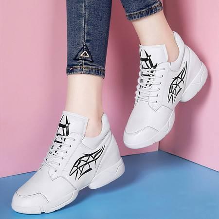 百年纪念1260内增高休闲鞋韩版运动鞋秋季新款韩版单鞋真皮鞋子女