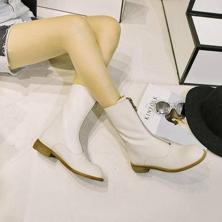 玛丽兰秋冬长靴平底圆头时尚百搭女靴