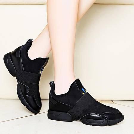 百年纪念 百年纪念1292真皮女鞋平底休闲鞋秋季新款韩版单鞋圆头鞋子运动鞋