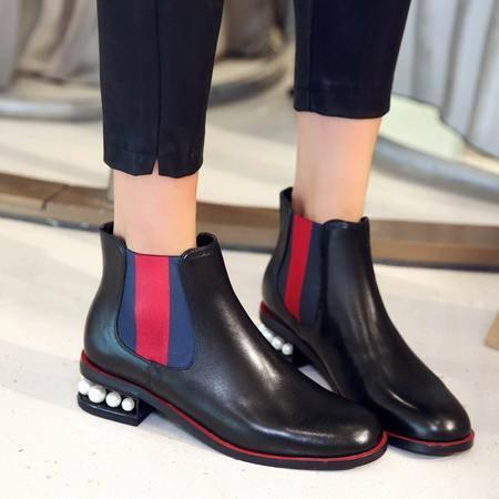 玛丽兰秋冬短靴低跟时尚欧美女鞋