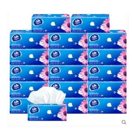 维达 抽纸超韧(倍韧面巾纸 无香婴可用纸巾3层S码 18包