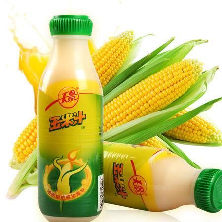 【天景】玉米汁原味 营养果蔬汁 玉米汁饮料 粗粮饮品 490ml/瓶