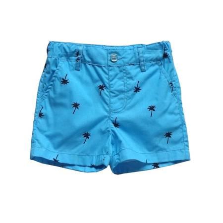 儿童蓝色休闲热裤