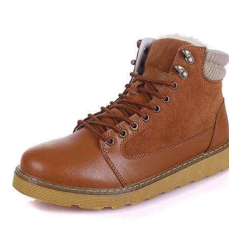 IVG保暖工装靴保暖男靴子时尚英伦潮流男雪地靴鞋子