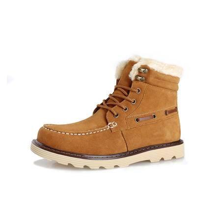 IVG新款男士加毛保暖男靴子雪地靴棉鞋子低邦保暖鞋子