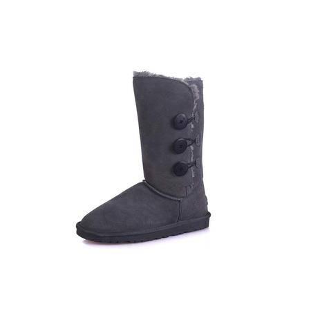 正品IVG冬季1873保暖雪地靴 真皮防水保暖 女靴子 纽扣款高筒靴子