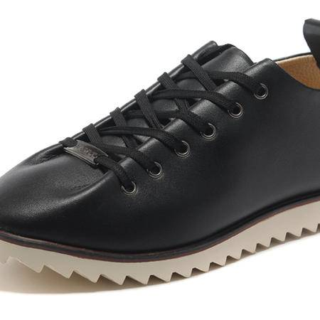 IVG新款男士英伦风板鞋真牛皮鞋透气手工鞋男鞋休闲鞋子皮鞋男潮