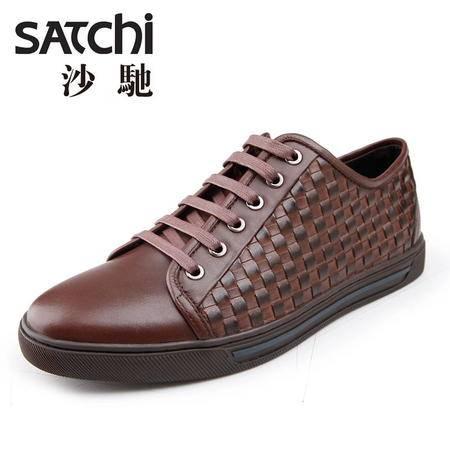 清仓特卖沙驰 男鞋 真皮时尚系带休闲鞋 599元任选