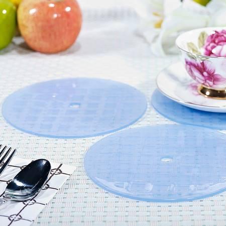 茶花圆形塑料餐桌居家隔热垫防滑垫1X3碗垫盘垫杯垫锅垫1308