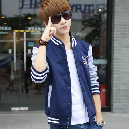 新款男士休闲卫衣外套潮 修身韩版潮外套男装韩版修身青少年卫衣外套【全国包邮】