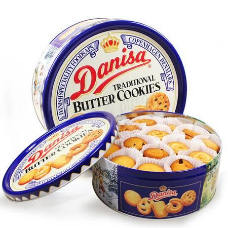 皇冠丹麦 牛油 曲奇饼干 681g 蓝罐 铁盒装 原装进口零食【全国包邮】