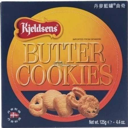丹麦曲奇饼干休闲零食蓝罐曲奇盒装好吃曲奇小饼干125g【多省包邮】