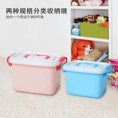 彩色收纳箱 塑料收纳盒 透明储物箱 玩具整理箱 大中小号 户外出游【多省包邮】【颜色随机】