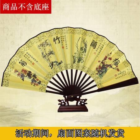 中国风折扇 高档书画扇子 男士折扇 10寸 山水画扇子【多省包邮】【新款】【图案随机】