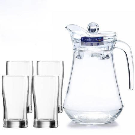 乐美雅 冷水壶 玻璃杯套装 鸭嘴壶水壶杯子凉水壶 LMY1+4