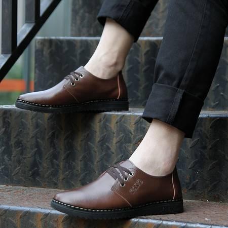米斯康新款正品透气低帮鞋男士皮鞋真皮男日常休闲鞋板鞋男鞋子潮2105