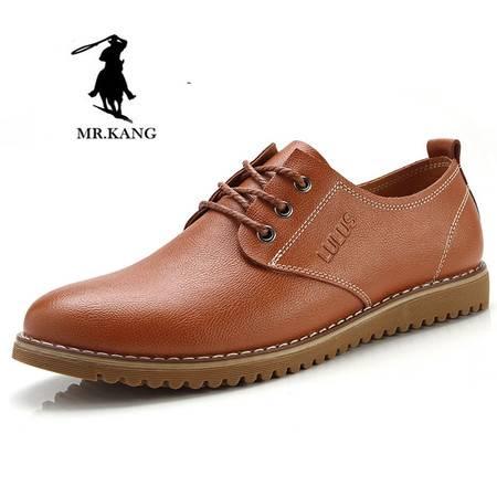 新品米斯康男鞋正品系带软底鞋子潮流商务休闲皮鞋低帮鞋男士单鞋8821