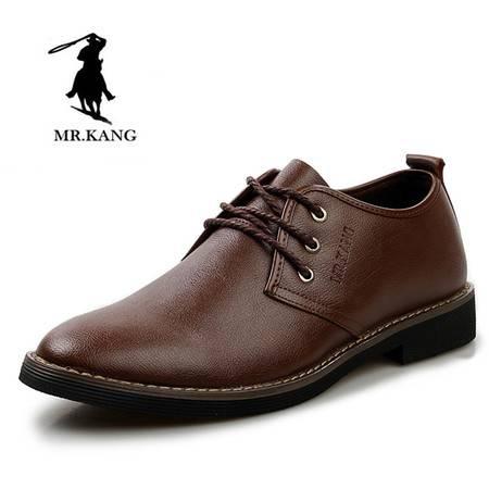 米斯康正品男鞋春季男式鞋休闲鞋单鞋商务皮鞋子男士英伦潮流板鞋8875