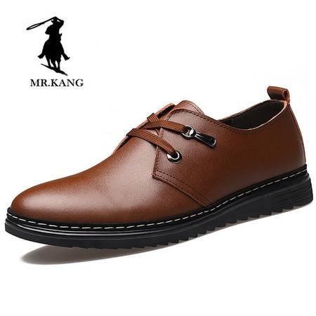 米斯康2016新款男士皮鞋真皮男鞋潮鞋系带牛皮透气商务休闲鞋子8102