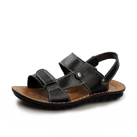 夏季新款男士鞋凉鞋男真皮夏季皮凉鞋男沙滩鞋男透气牛皮休闲耐磨5865